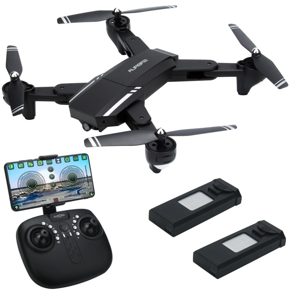 2019 INKPOT Q39 Pieghevole APP di Controllo RC Drone Con 2.0MP HD Macchina Fotografica FPV Quadcopter LED Professionale Selfie Dron 3 Batterie