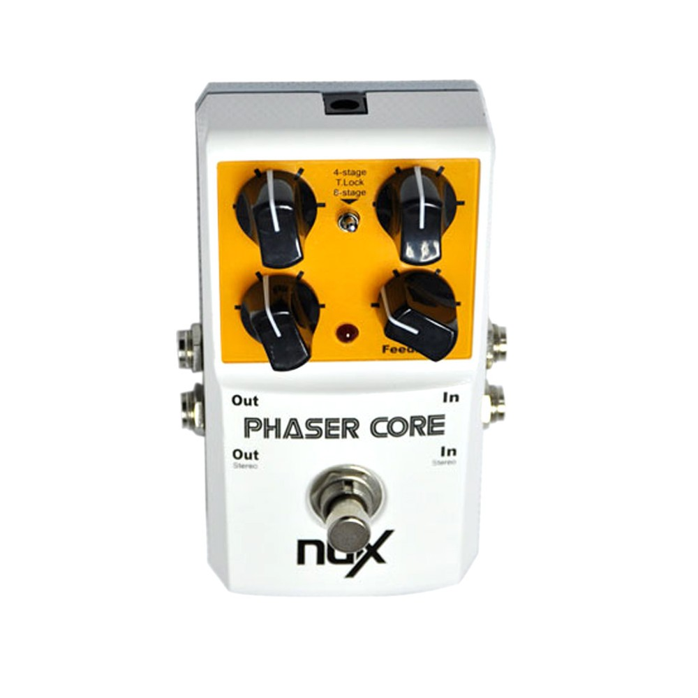 Original Product NUX AS-3 Phaser Core Phase Shifter Modulation Stomp Effect Pedal Tone Lock Preset Function True Bypass nux roctary force simulator polyphonic octave stomp boxes electric guitar effect pedal fet buttered tsac true bypass