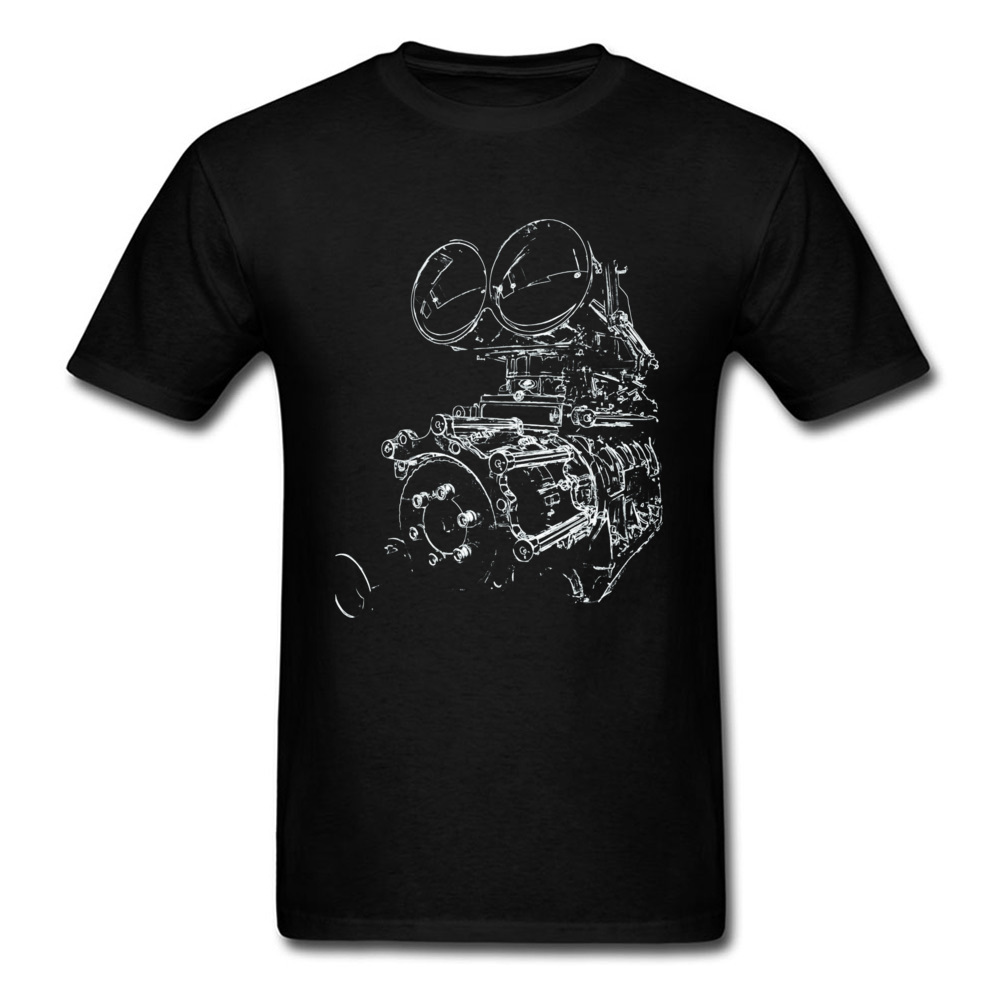 Cool Men T Shirt Car Supercharged <font><b>V8</b></font> Engine T-shirt GTR Super Fashion 2019 Male Streetwear Black Cotton <font><b>Tshirt</b></font> Graphic Tops Tees image