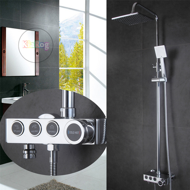 Attractive Bathroom Button Shower Set With 8 Good Ideas