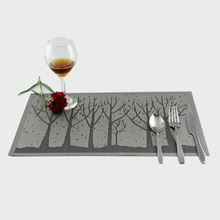 Top Selling Tree Pattern Restaurant Table Cup Mat Rectangle Kitchen Decoration Accessories Plus Size Dining Placemats