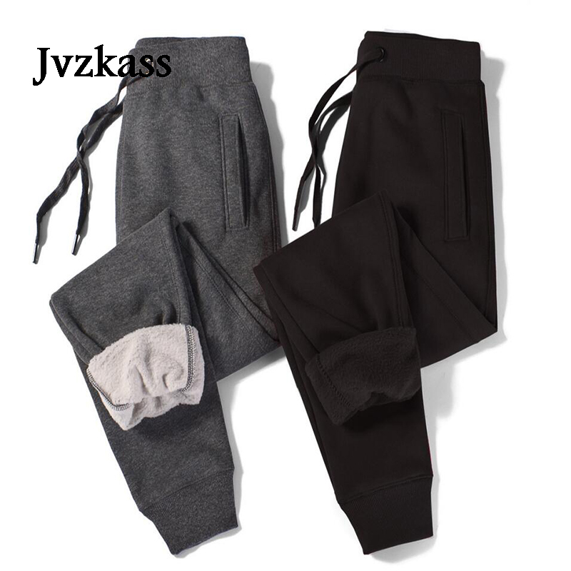 Jvzkass Plus Velvet Thickening Sports Pants Female 2018 Winter New Casual Trousers Thick Section Cotton Pants Large Size Z285