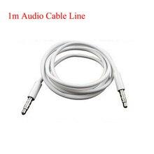 Universal 1 m Línea de Cable de Audio Estéreo de 3.5mm a 3.5mm Macho a macho Cable Aux en el Coche para MP3 Mp4 Altavoz Móvil teléfonos