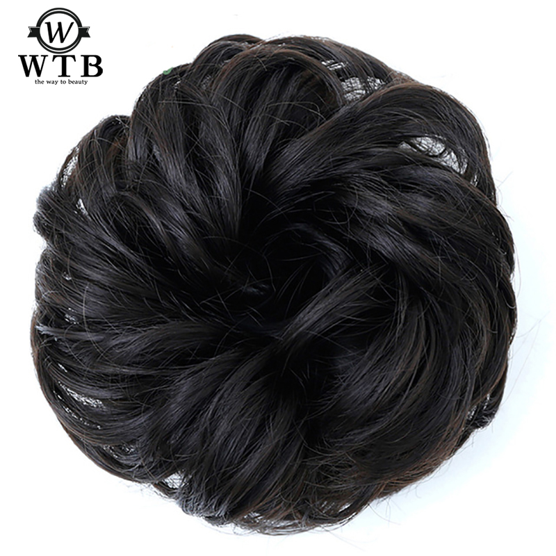 WTB  Synthetic Hair Chignons Elastic Scrunchie Extensions Hair Ribbon Ponytail Hair Bundles Updo Hairpieces Buns Drawstring