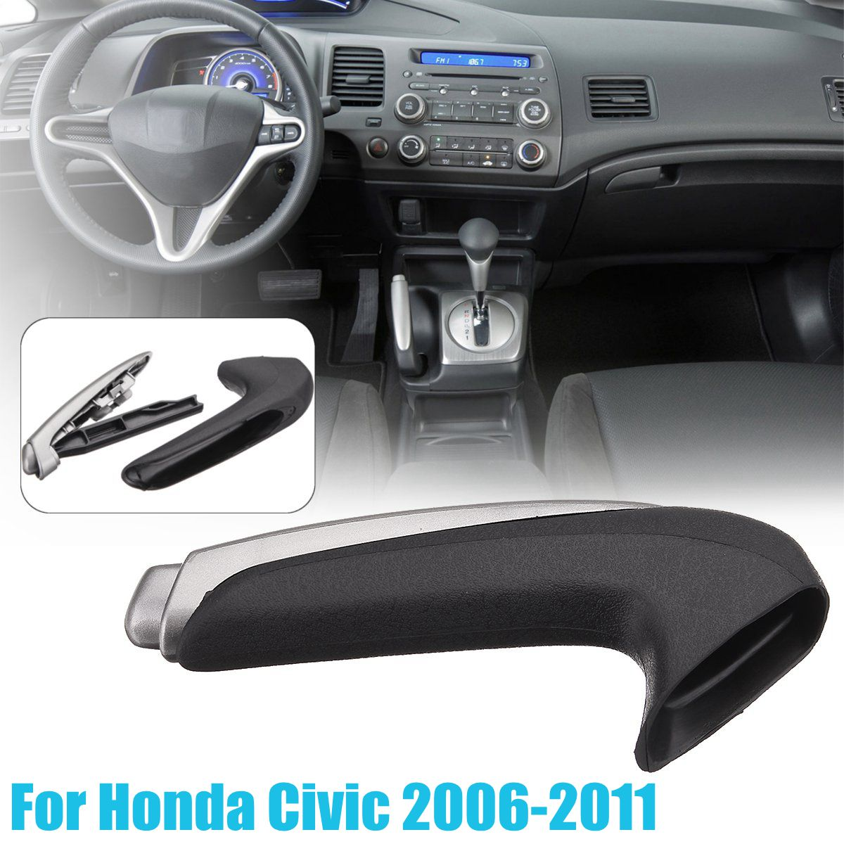 Handle Cover Emergency Car Interior Parking Hand Brake Handle Lever Grip Cover For Honda for Civic 2006-2011 цены