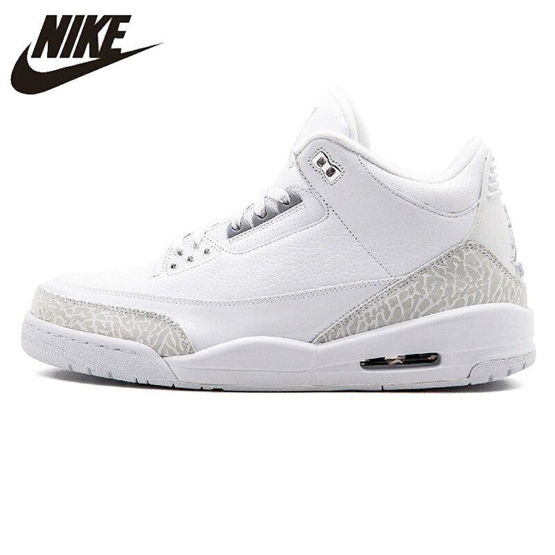 Basketball-schuhe Nike Air Jordan Aj 3 Retro jahrestag Männer Basketball Schuhe Original Männlichen Sport Turnschuhe Schuhe Ein Kunststoffkoffer Ist FüR Die Sichere Lagerung Kompartimentiert