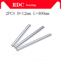 Free shipping 2pcs 12mm linear shaft 400mm long linear rod 12x400mm CNC linear shaft hardened rod linear guide rail cnc parts