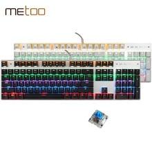 Neue Regenbogen Bunte LED Hintergrundbeleuchtung Mechanische Tastatur Professionellen Erweiterte Gaming Tastatur El Teclado Gamer Spiel Tastatur