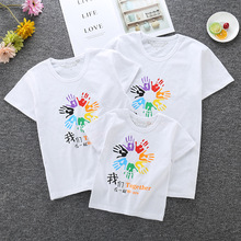 2019 Summer Cotton Short-sleeved T-shirt Family Matching Clothes Mommy and Me Mom and Daughter T-shirt Family Look summer mom and daughter clothes cotton lettering t shirt family matching clothing mom and dad kid s t shirt comfort girl clothes