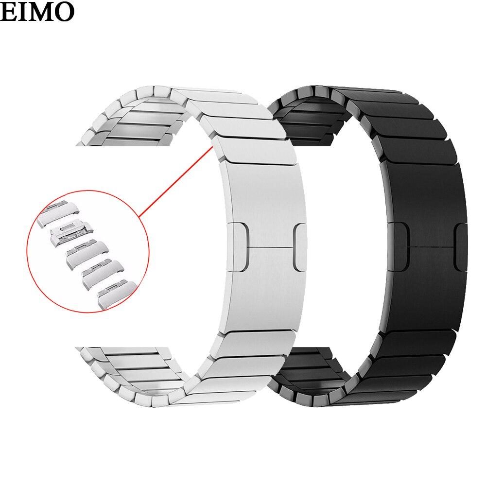 Cinghia per Apple Watch Band 42mm 44mm iwatch 4 3 2 1 40mm 38mm gen.6 In Acciaio in acciaio del Braccialetto di Collegamento Da Polso Smartwatch Cinturino