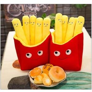 Image 3 - 아주 사랑스러운 미소 현실적인 감자 튀김 베개 귀여운 칩 플러시 장난감 재미있는 인형 생일 선물