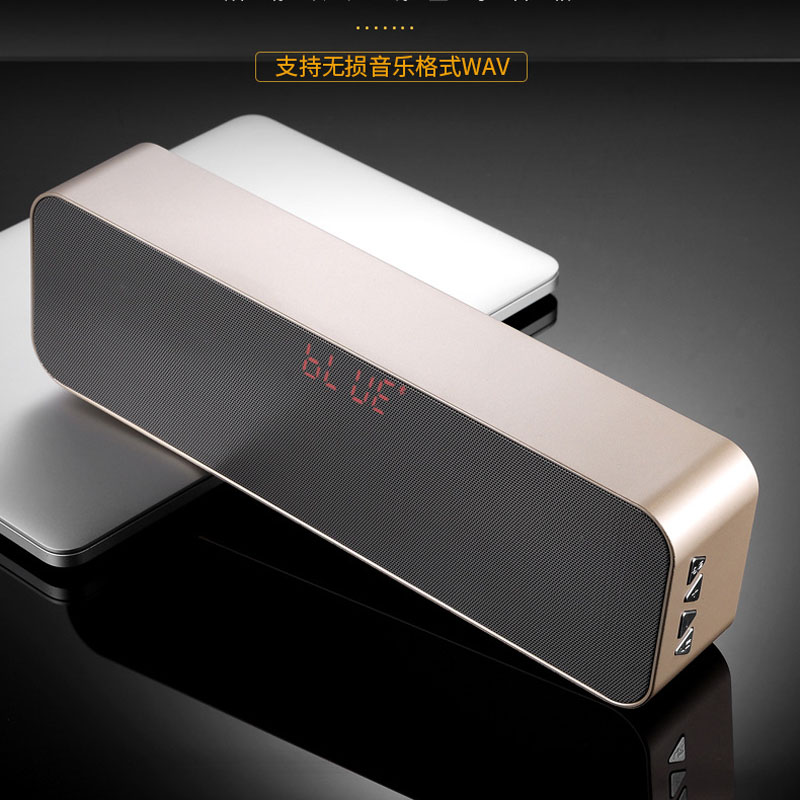 Portable wireless Bluetooth speaker, double horn heavy bass effect, stereo LED display, outdoor speaker FM, Bluetooth audio. tuberose double speaker bluetooth stereo earphone high definition dual dynamic driver magnetic heavy bass wireless earplug