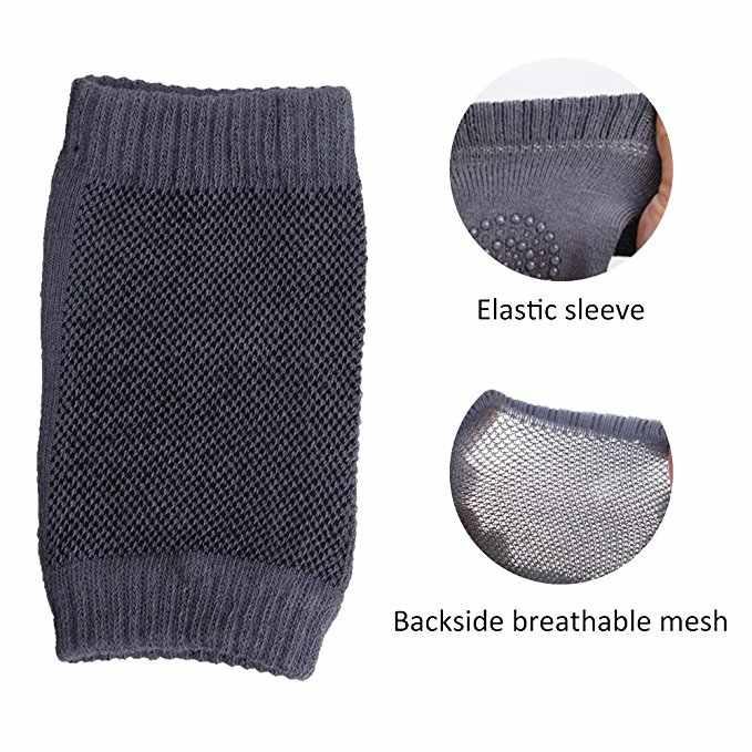 1 par de rodilleras para bebés, almohadilla para codo de gatear de seguridad para niños pequeños, calentador de piernas y rodillas para bebés, protector de apoyo para rodillas de bebés