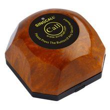 SINGCALL Wireless Restaurant Calling Button,Waiter Call System,with Removable Waterproof Base APE560 Wood Color