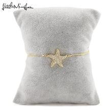 Роскошный женский браслет с подвесками в виде звёзд
