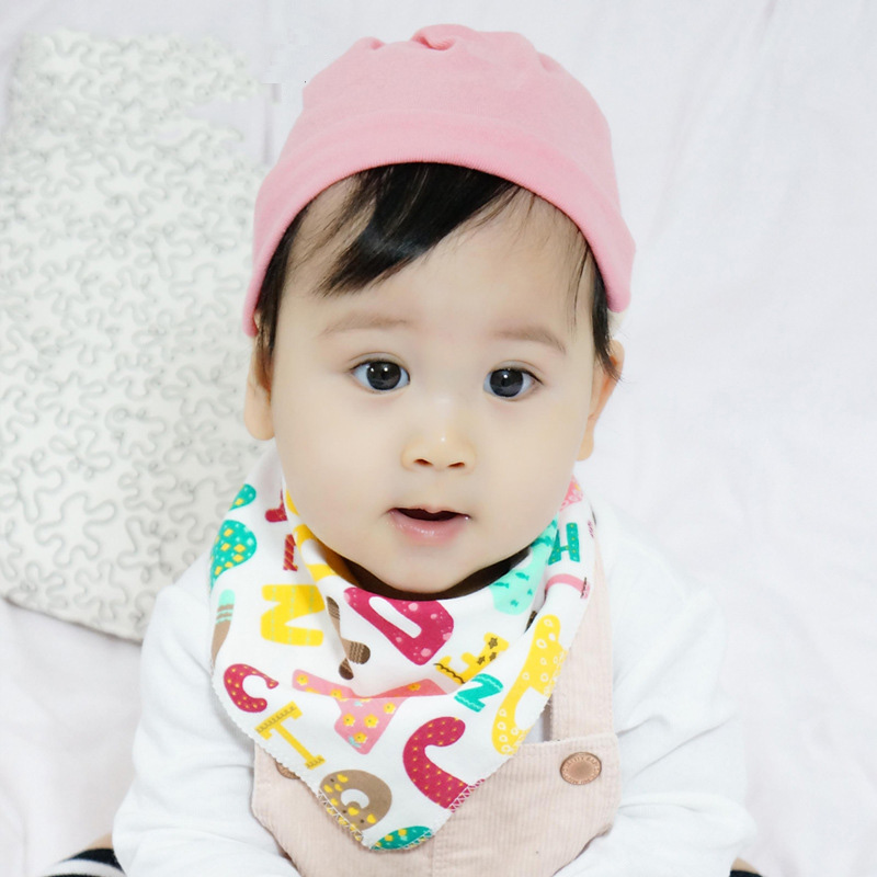ideacherry New Cartoon Baby Bibs Apron Double Layers Soft Cotton Newborn Burp Cloths Bibs Kids Scarf Bandana Baby Saliva Towel