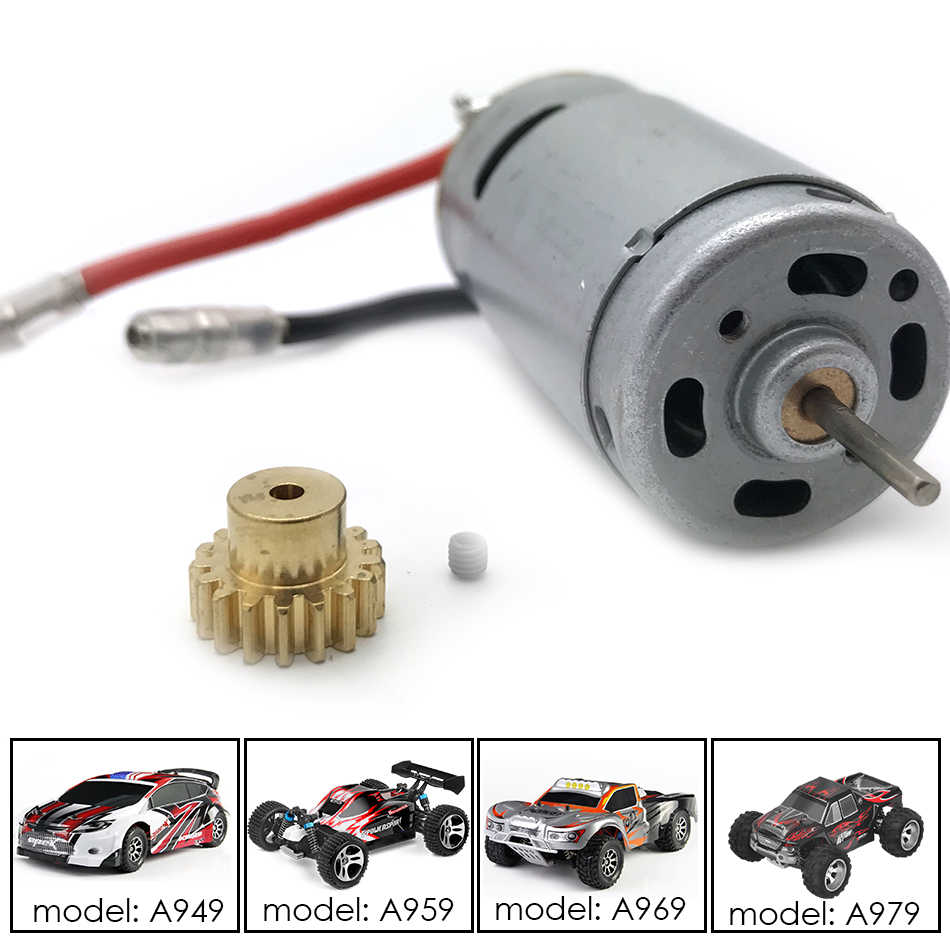 RC 540 Motor with Motor Mount Heat Sink Fit for A959 A969 A979 K929 1:18 RC Car