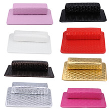 New Cushion Pillow Salon Hand Holder Rectangle PU Leather Pad Nail Arm Rest Manicure Nail Tools Nail Care Tool manicure