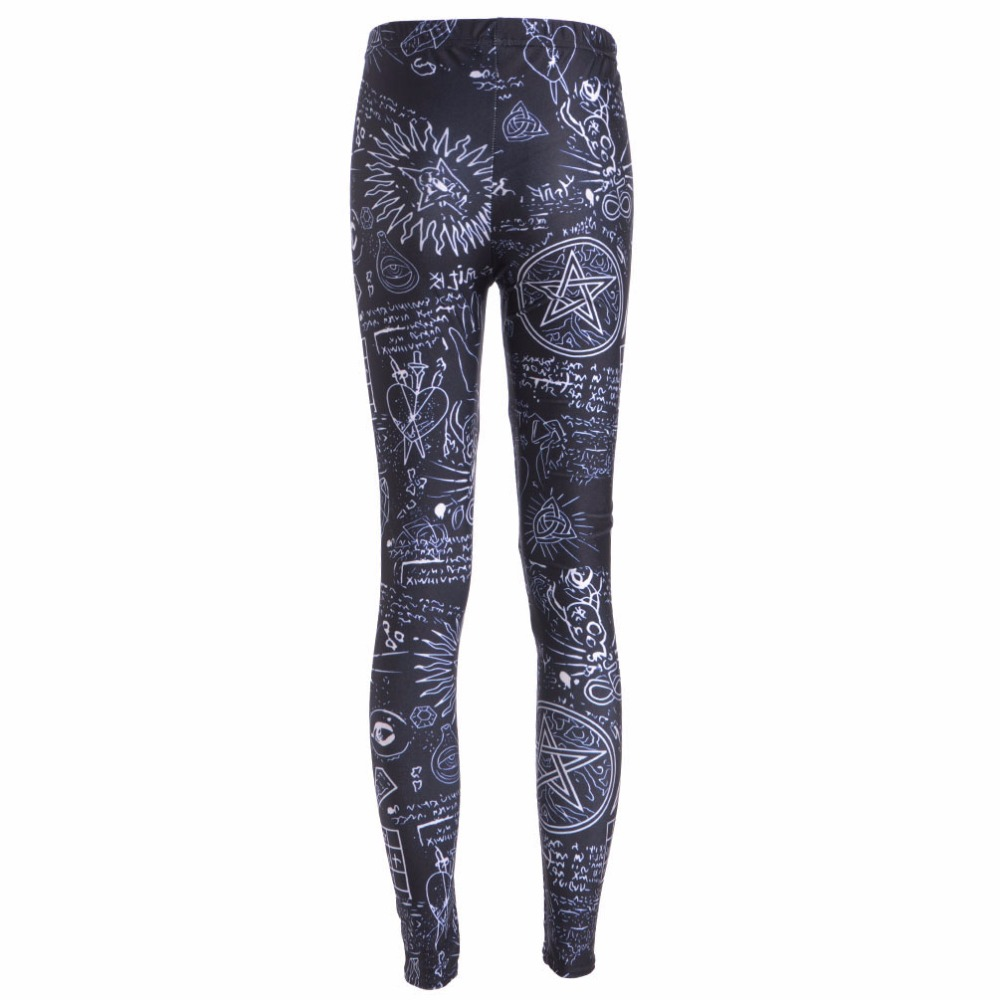 2ae79d746dc0b New Arrival 3658 Sexy Girl Women SpellBound symbol scrawl 3D Prints Elastic  Fitness Polyester Walking Leggings Pants-in Leggings from Women's Clothing  on ...
