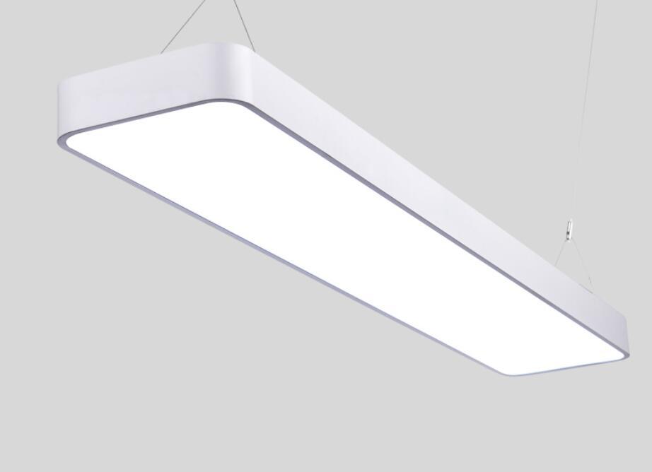 Iluminação de escritórios modernos arredondado LEVOU escritório de luz pingente de fio de alumínio retangular simples moderna iluminação comercial BG5 - 4