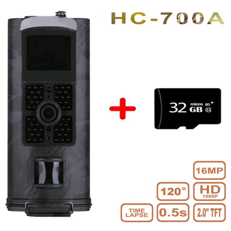 HC-700A Hunting Camera Outdoor Waterproof Wide Angle Hunting Camcorder Wildlife Trail Observing Equipment With Display Screen
