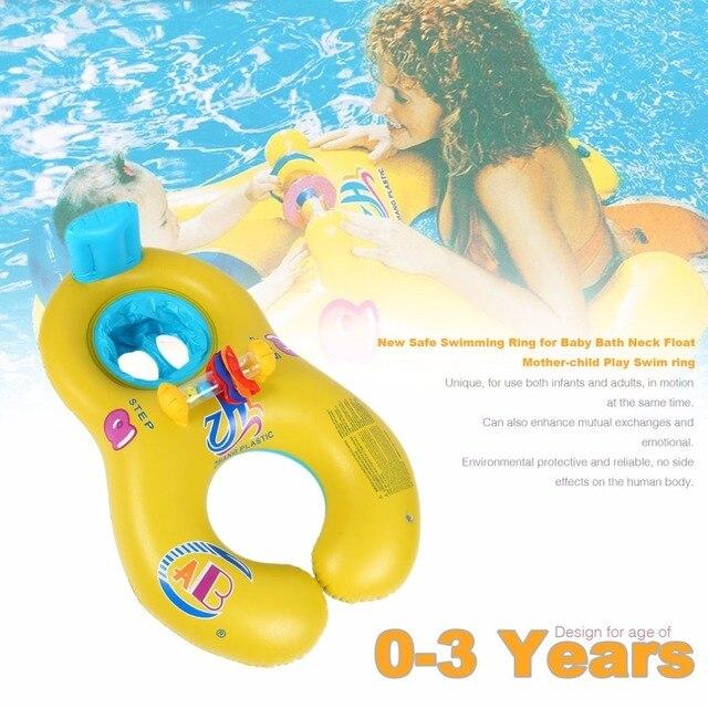 Bouée de sauvetage pour bébé anneau de natation sûr mère enfant enfant cercle Double anneaux de natation boucle de natation équipement de protection de sécurité