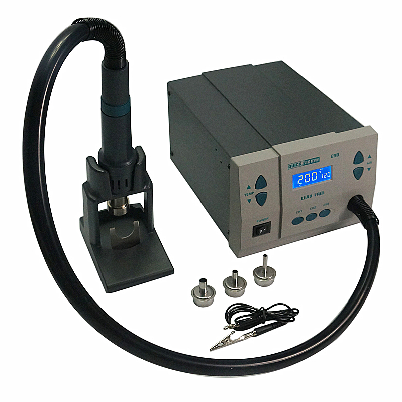 BGA rework station QUICK 861DW Hot Air soldering station for IC chip repairing original quick 861dw hot air rework station 1000w 220v heat gun lead free soldering station fix phone repair bga chip ic tools