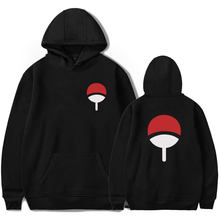 Autumn Winter Japan Cartoon Anime NARUTO Uchiha Design Hooides Men Women Popular Ninja Sweatshirt Pullover Tracksuit Moletom(China)