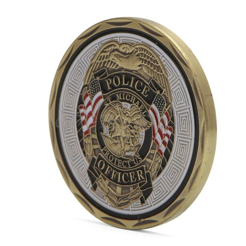 Collectible Coin St Michael Police Officer Badge Patron Saint Commemorative Challenge Coin Art Souvenir Drop Ship