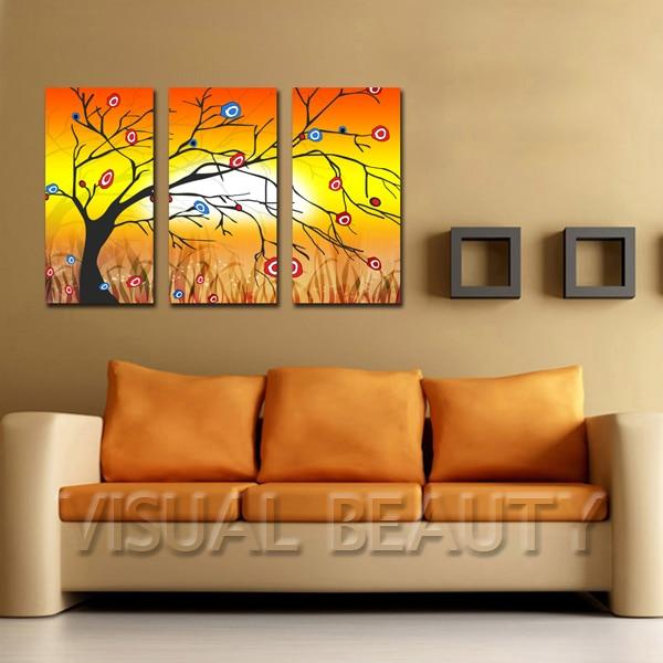 Gratis Pengiriman Abstrak Pohon Sederhana Artist Lukisan Untuk