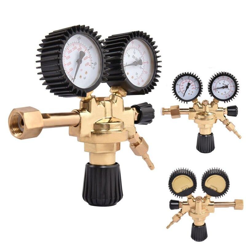 Ventil Intellektuell Hohe Qualität Messing Ar/co2 Meter Reductor Argon Regler Kohlendioxid Regler Mini Druckminderer Dual Gauge 0-4500 Psi Heimwerker