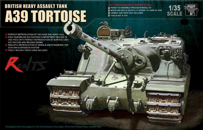 RealTS Meng Model 1/35 TS-002 Bristish Heavy Assault Tank A39 Tortoise realts meng model 1 35 ts 014 t 90 russian main battle tank w tbs 86 tank dozer instock