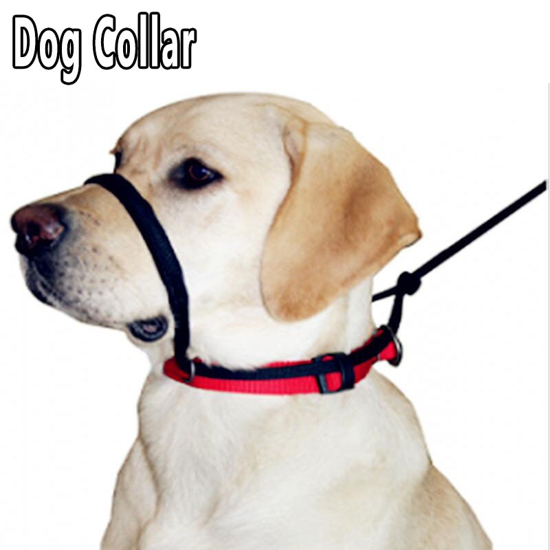 new pet dog muzzle collar puppy pet nylon adjustable mask anti bark bite barking collar for. Black Bedroom Furniture Sets. Home Design Ideas