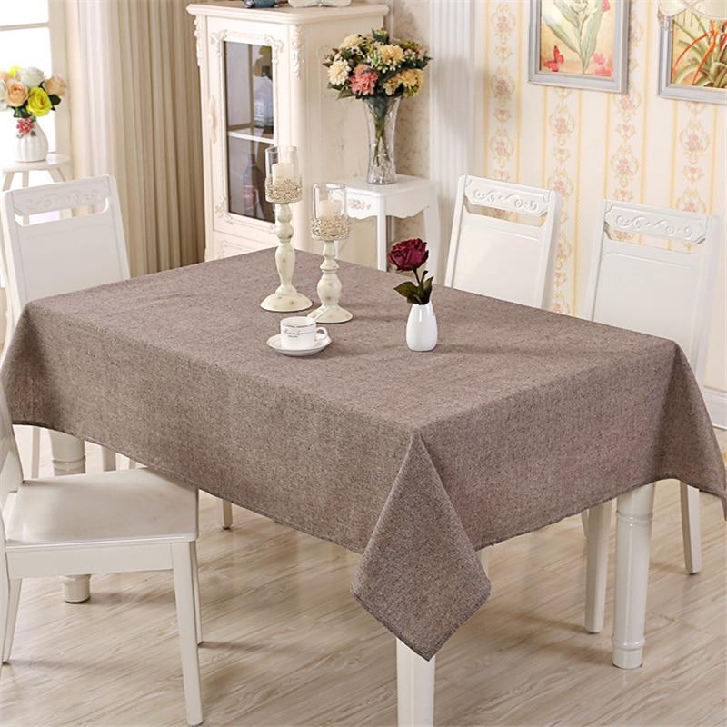 Cotton Modern Table Cover Simple Plain Tablecloth Tea Table Cloth Dining Tablecloths Rectangular Table-cloth Tafelkleed For Home