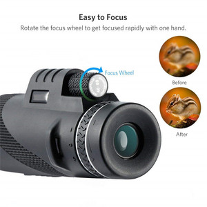 Image 4 - משקפת 40x60 זום HD מקצועי משקפת טלסקופ ראיית לילה צבאי משקפת עם טלפון מחזיק חצובה ציד Turizm