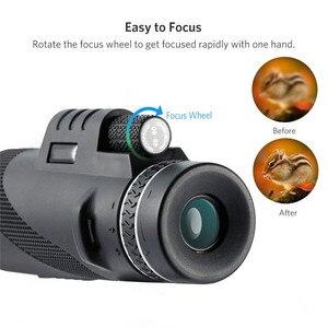 Image 4 - Monoküler 40x60 yakınlaştırma HD profesyonel dürbün teleskop gece görüş askeri Spyglass telefon tutucu Tripod avcılık Turizm