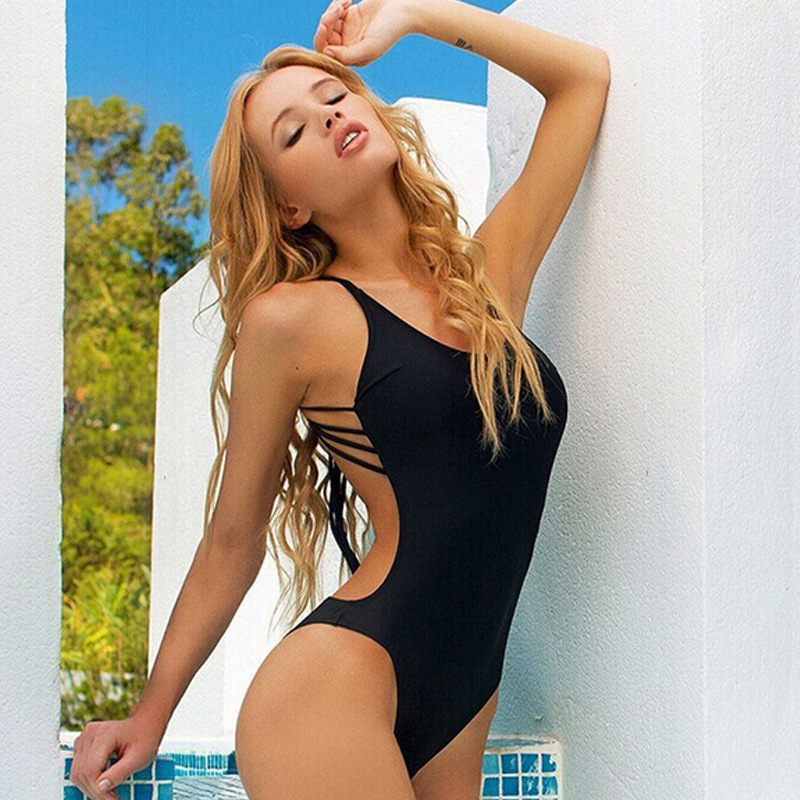 4d161884c1815 Sexy Swimsuit Women Black One piece Swimwear 2016 Hot backless One Piece  Bathing Suits for women monokini mayokini S L 5 Colors-in One-Piece Suits  from ...