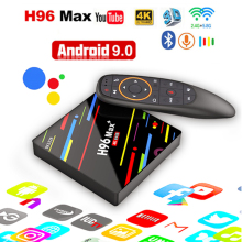 купить TV Box H96 Max Media Player 4k Smart TV Android 9.0 4GB 64GB Set Top Box RK3328 5G Wifi 4K Quad Core 2.4GHz H.265 pro Play Store по цене 2637.2 рублей