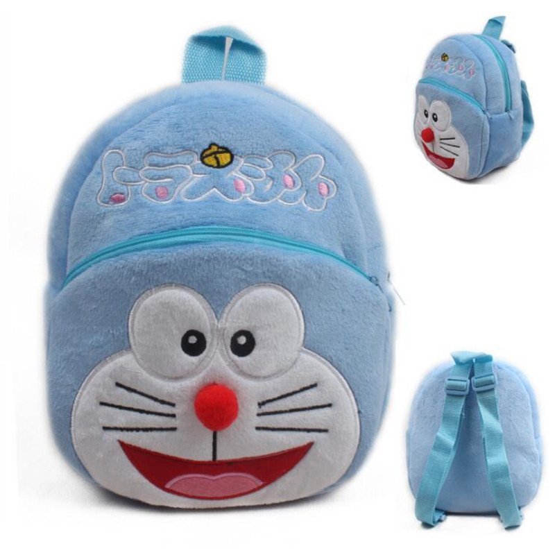 Hot Sell!! Cute Cartoon Doraemon Plush Kids Backpacker Children School Bags Birthday Christmas Gifts