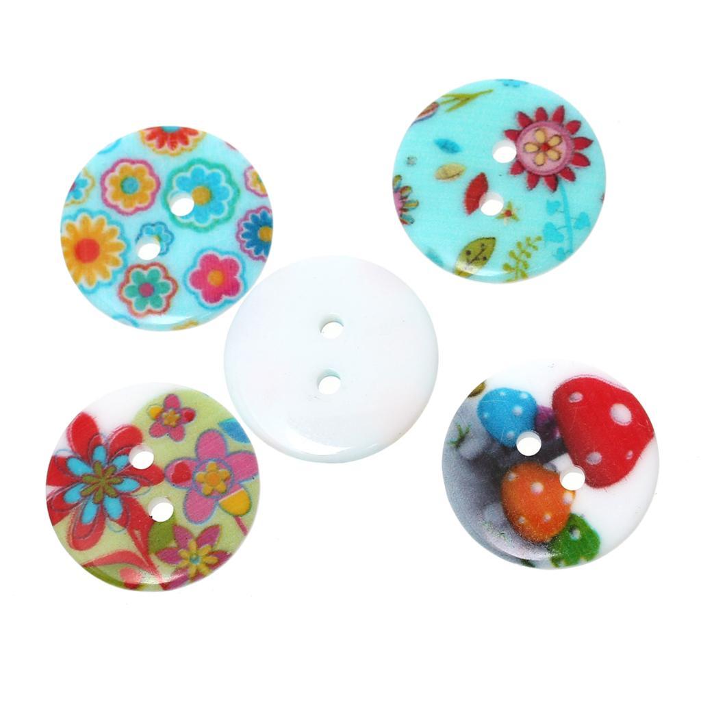 ᐂDoreenbeads resina Costura botón scrapbooking ronda al azar 2 ...