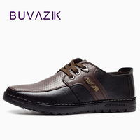 2017 Genuine Leather Men S Casual Shoes Moccasins Lace Up Soft Bottom Comfortable Basic Flats Shoes