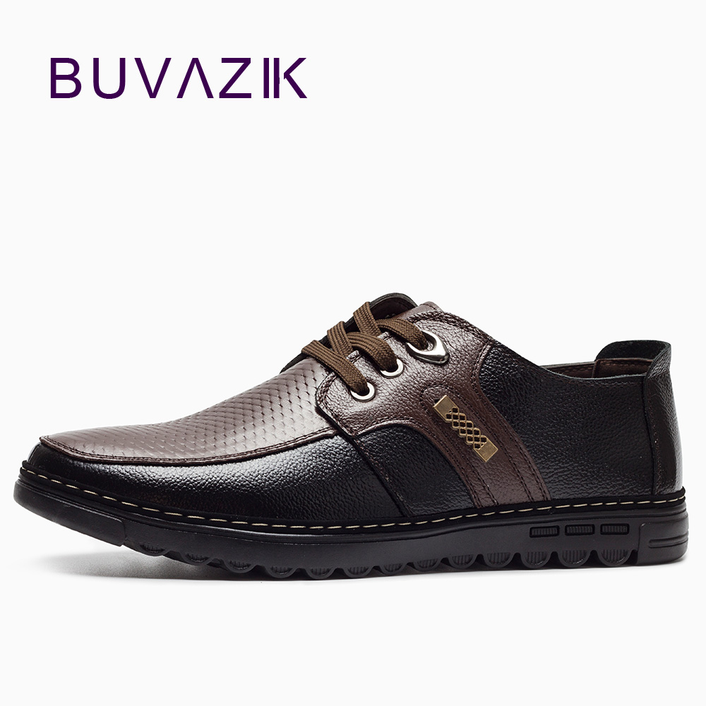 2018 Genuine leather men's casual shoes Moccasins lace-up soft bottom comfortable basic flats shoes men handmade Brand Design
