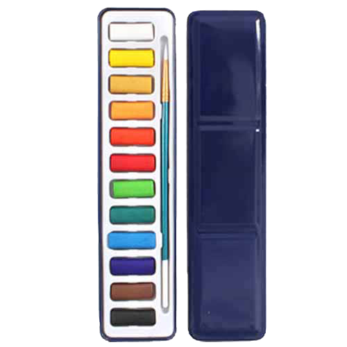 12 Colors Portable Tin Box Solid Watercolor Paints Set For Artist School Student Drawing Painting Stationery Art Supplies 21.5 12 16 24 45 colors set art drawing set solid water color paint school supplies for artist children painting art paints