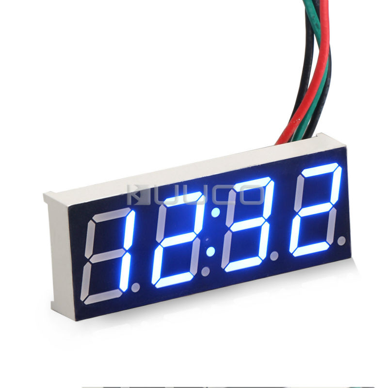 Clock Adjustable Digital Clock Blue Led display Car Clock /Digital Meter/Panel Meter DC 12V 24V DIY Time Monitor/Tester 24 hour digital clock yellow led display car clock digital meter panel meter adjustable clock dc 12v 24v diy time monitor tester