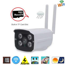 720P HD Wireless CCTV IP Camera Mini Bullet WIFI IRCUT Outdoor waterproof Surveillance Security video system No Power supply