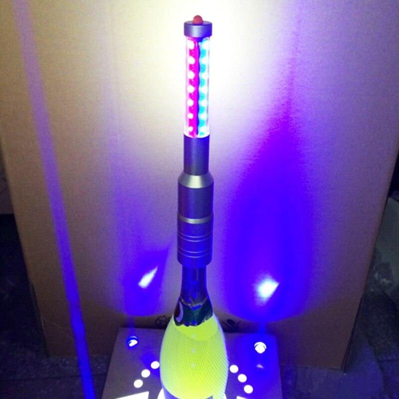 Recarga LEVOU Strobe Piscando Baton Sparkler Fogos de Artifício Varas Champagne Wine Bottle cap Rolhas de Recepção Do Evento para Bar Club