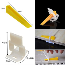200 Pcs Hot Sale Tile Leveling Spacer System Construction Tool Wedges Tiling Flooring PE Tile Grout