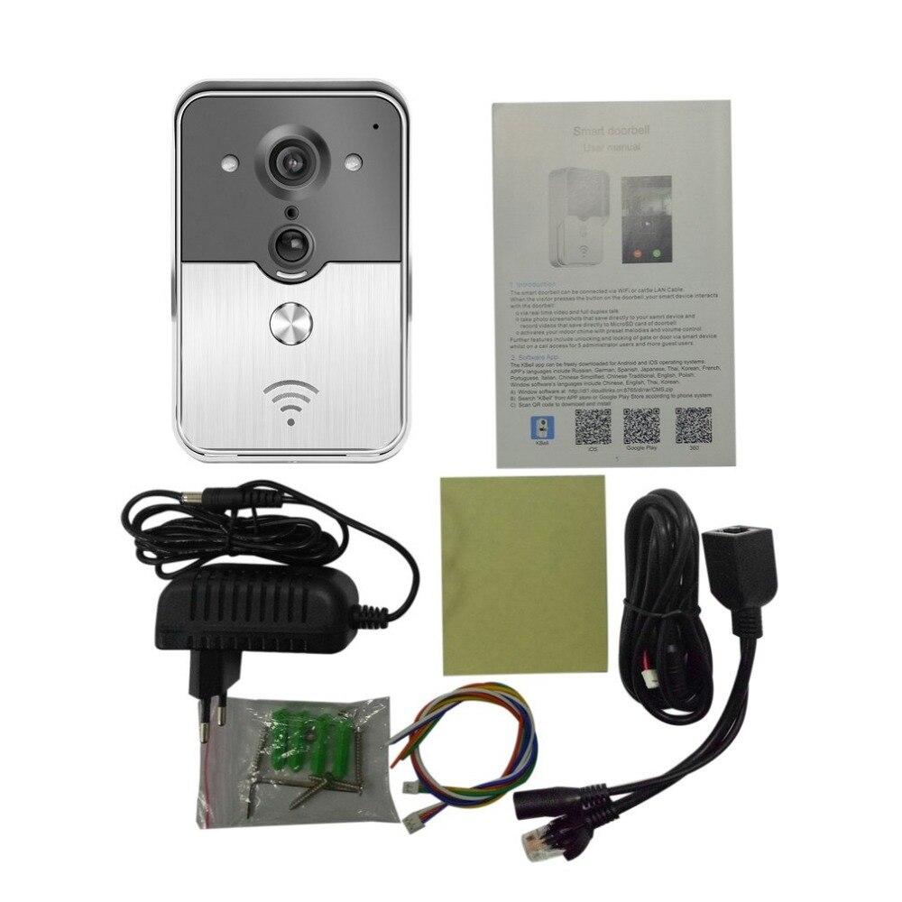 Waterproof IP44 Wifi Enabled Video Doorbell Smart Doorbell Full Duplex Talk Visual Doorbell Home Smart Alarm V1 moralia – table talk books 1–v1 l424 v 8 trans clement greek