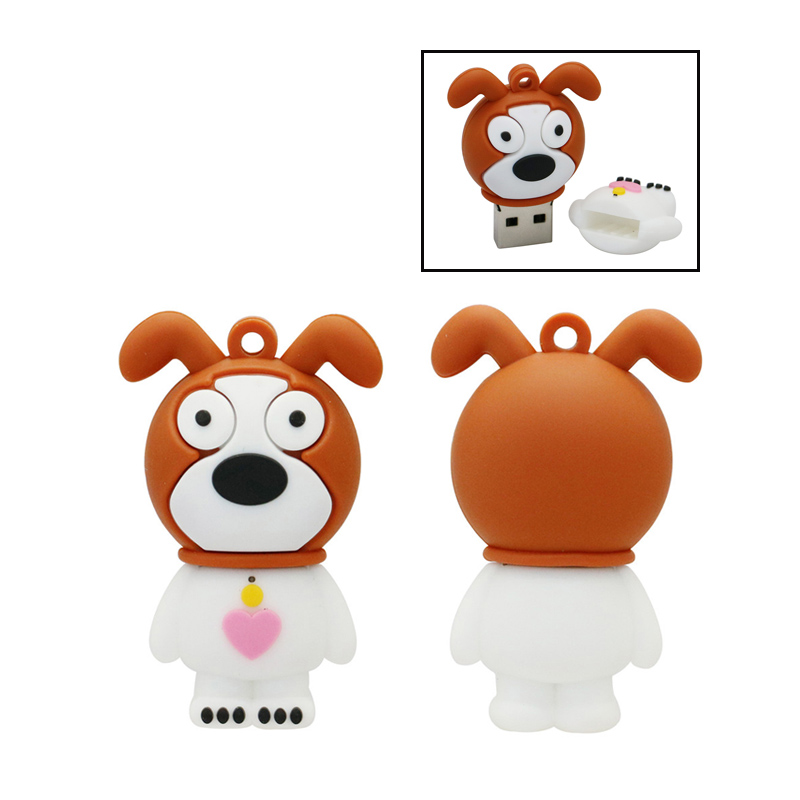 Lovely Animal Dog Usb Flash Drive Pendrive 4GB 8GB 16GB 32GB Animal Pen Drive 16GB Memory Stick Cartoon Animal U Disk USB 2.0