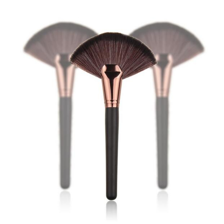 New 1pc Soft Makeup Large Fan Brush Blush Powder Foundation Make Up Tool big fan Cosmetics brushes BO